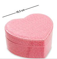 Шкатулка для украшений Влюбленное сердце JL-16 розовая