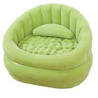 Надувное кресло-велюр Intex 102х91х65 см 68563, фото 1