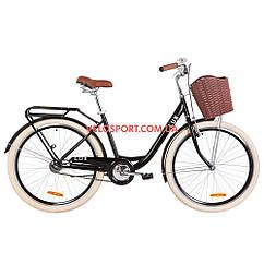 Городской велосипед Dorozhnik Lux 26 дюймов черный