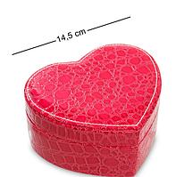 Шкатулка для украшений Влюбленное сердце JL-17 красная