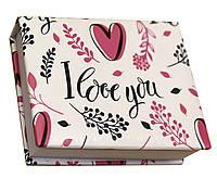 Блокнот MiniNotes со стикерами Post-it и цветными закладками, в твердой обложке «I love you», фото 1