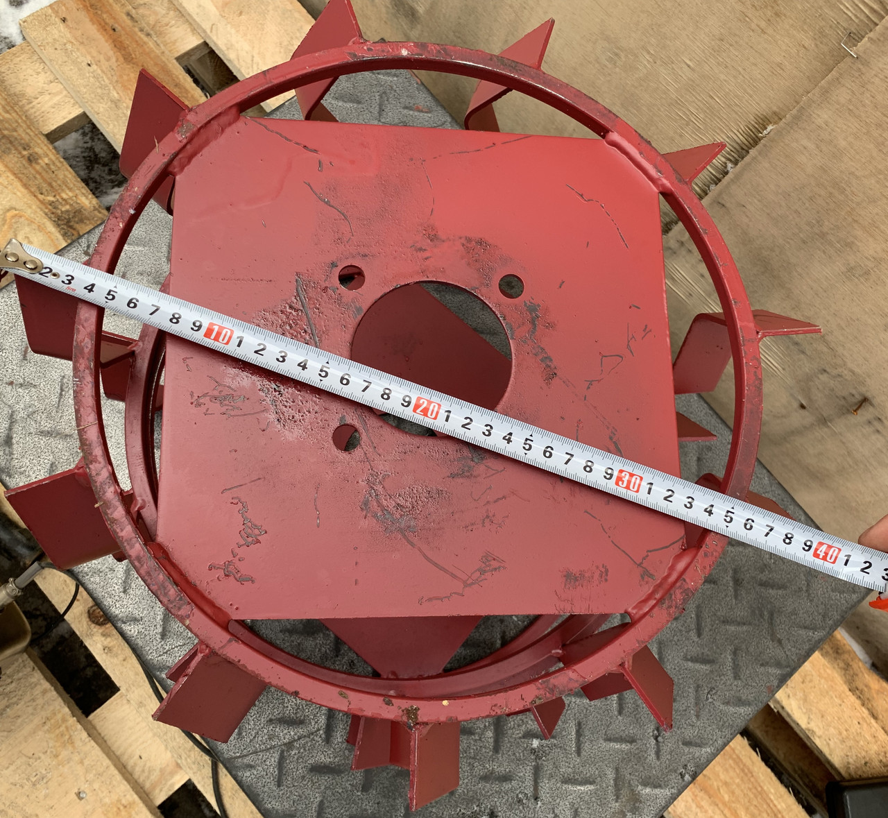 Колеса с грунтозацепами 400мм120мм культиватор