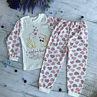 Пижама на девочку 12. Размеры 5 лет (110 см), 6 лет (116 см)
