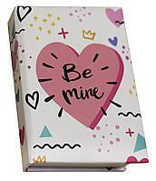 Блокнот MiniNotes со стикерами Post-it и цветными закладками, в твердой обложке «Be mine»