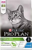 Сухой корм для кастрированных кошек (кролик) PURINA Pro Plan (Про План) Sterilised RABBIT 1.5кг