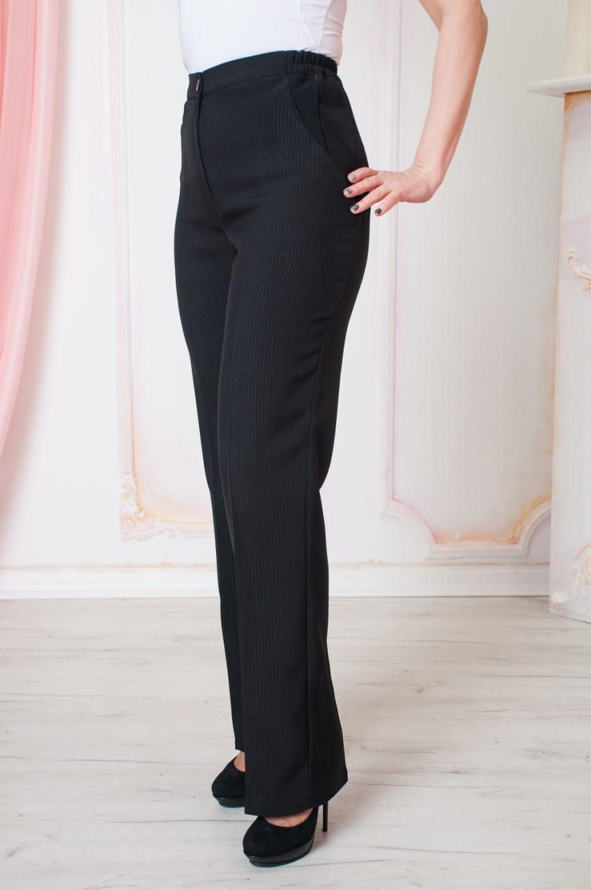 Модные брюки на резинке  Размеры: 56, 60, 62