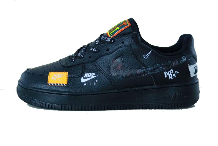 "155f7e6e Мужские кроссовки Nike Air Force 1 Low ""Just Do It"" Black (Реплика ААА"