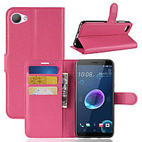 Чехол для HTC Desire 12 книжка PU-Кожа розовый