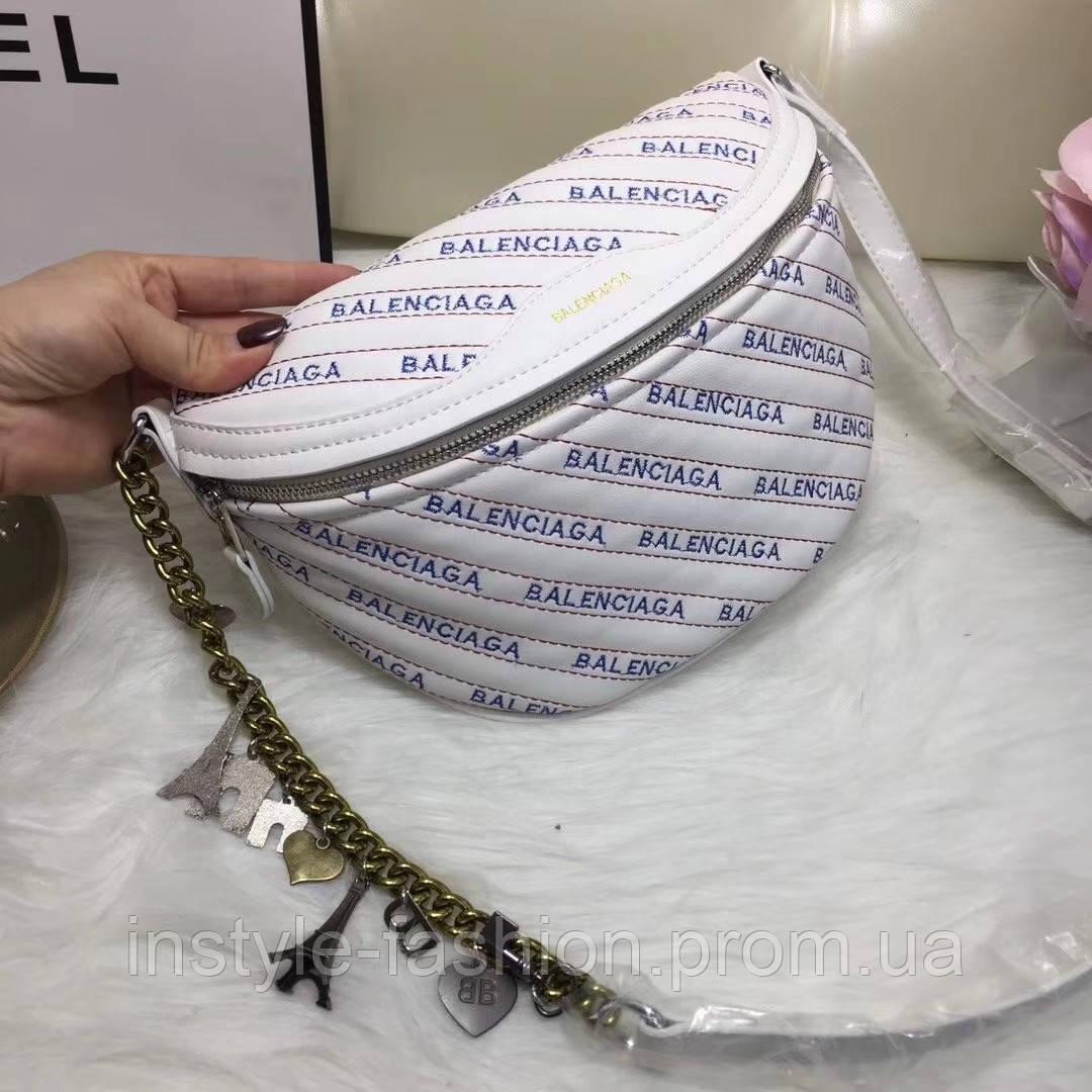 Сумка женская копия Balenciaga Баленсиага качественная эко-кожа дорогой Китай белая