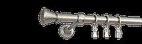 Карниз одинарный 240см D25мм сатина никель COLOSSEO