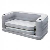 Велюр-диван раскладной Bestway 75063, серый