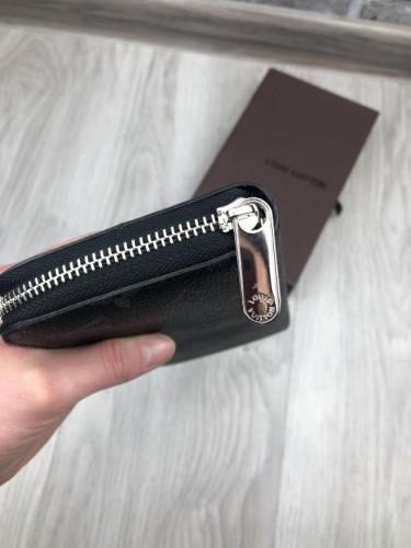 2d10fd88a69d ... Брендовый женский кошелек Louis Vuitton LV черный клатч кожа PU на  молнии портмоне Луи Виттон люкс ...