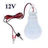 Лампа светодиодная 12 Вольт 9 Ватт с удлинителем и «крокодилами», фото 2
