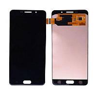 Дисплей для Samsung A710F Galaxy A7 (2016) + тачскрин, черный, OLED, копия хорошего качества