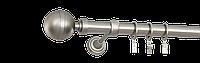 Карниз одинарный 240см D25мм сатина никель KALISTO