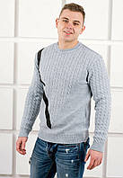 Мужской свитер с круглой горловиной