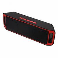 Портативна bluetooth колонка MP3 плеєр UKC SC-208 BT Red, фото 1
