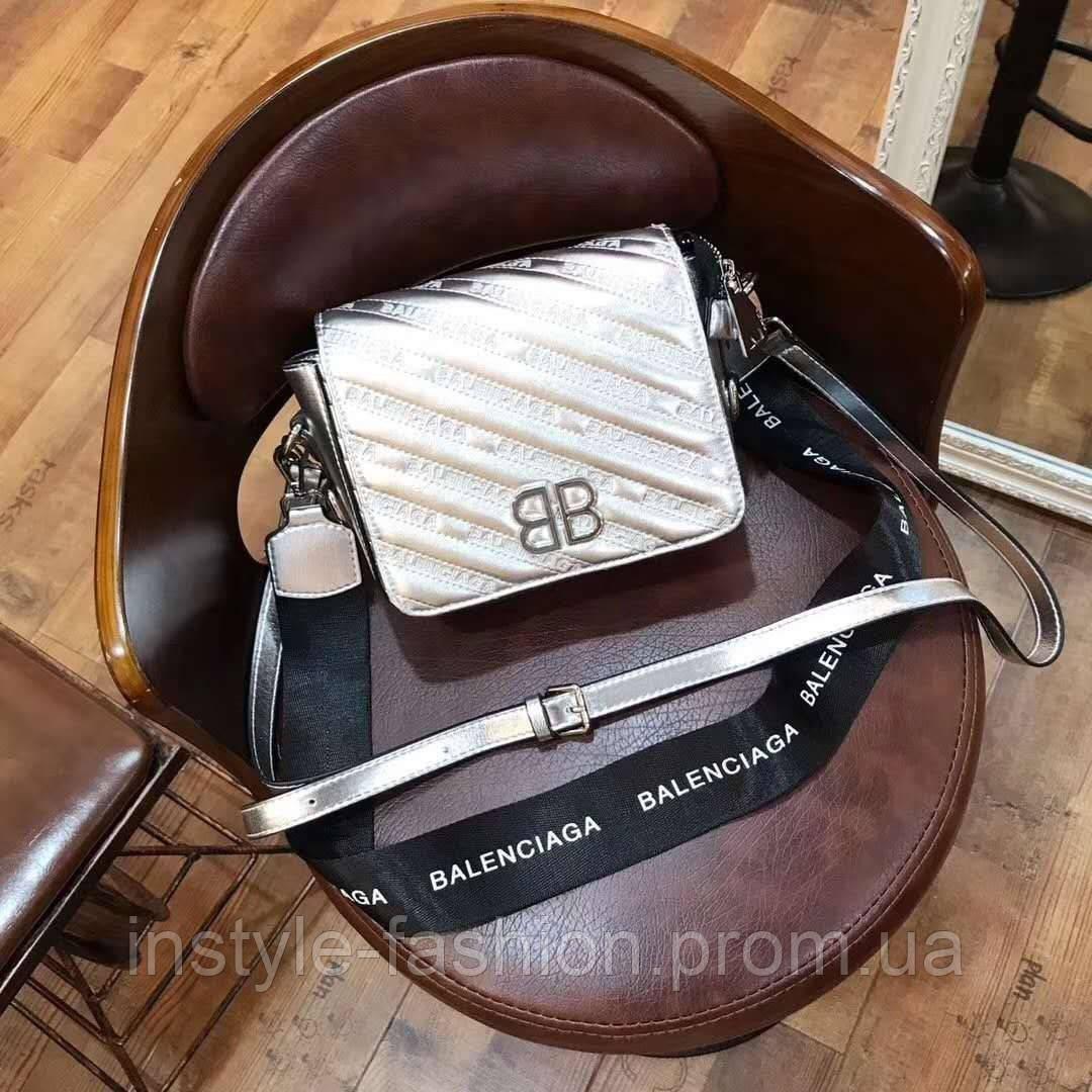 f69dcf62f487 Сумка-клатч копия Balenciaga Баленсиага качественная эко-кожа дорогой Китай  серебрянная