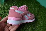 Кросівки дитячі рібок Reebok рожеві 26 - 36, копія, фото 2