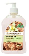 """Жидкое крем-мыло с глицерином ТМ """"Economy Line"""" Миндаль и ваниль 500г"""