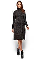 Стильное теплое женское платье Алина (42-48 в расцветках)