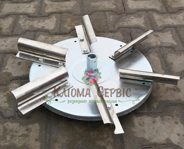 Тарелка с лопастями для разбрасывателя минеральных удобрений