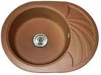 Brenor Кухонна мийка гранітна, врізна Brenor Solano 10 Чорний металік 08М