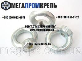 Рым-гайка нержавеющая М8 DIN582. Гайка с кольцом нержавеющая. сталь А2, А4.