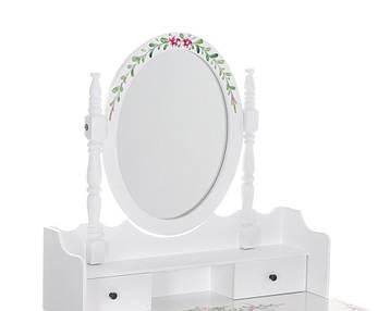 Туалетний столик з дзеркалом і табуретом, фото 2