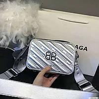 Сумка-клатч копия Balenciaga Баленсиага качественная эко-кожа дорогой Китай серебрянная