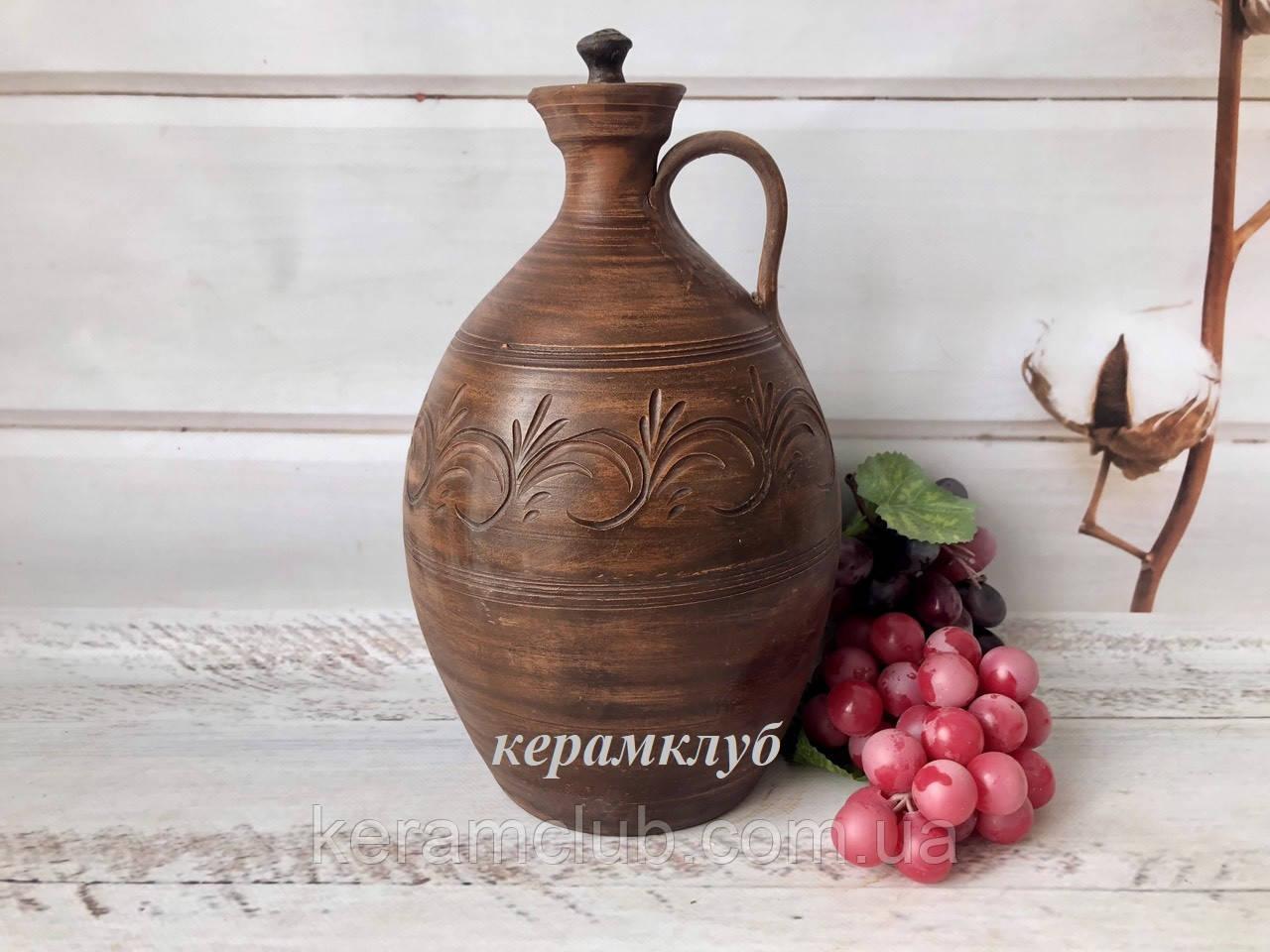 Штоф гончарный 2 л