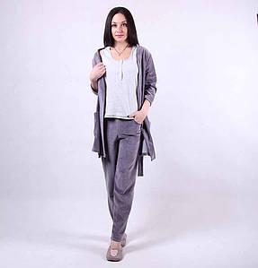 """Велюровый халат с пижамой """"Муссон"""" р.42-50"""