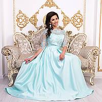 """Вечернее платье длинное мятное со шлейфом размер М """"Аркадия"""", фото 1"""