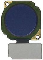 Шлейф для Huawei P20 Lite Dual Sim (ANE-L21)/Nova 3e/P Smart Plus (INE-LX1), с сканером отпечатка пальца, синего цвета