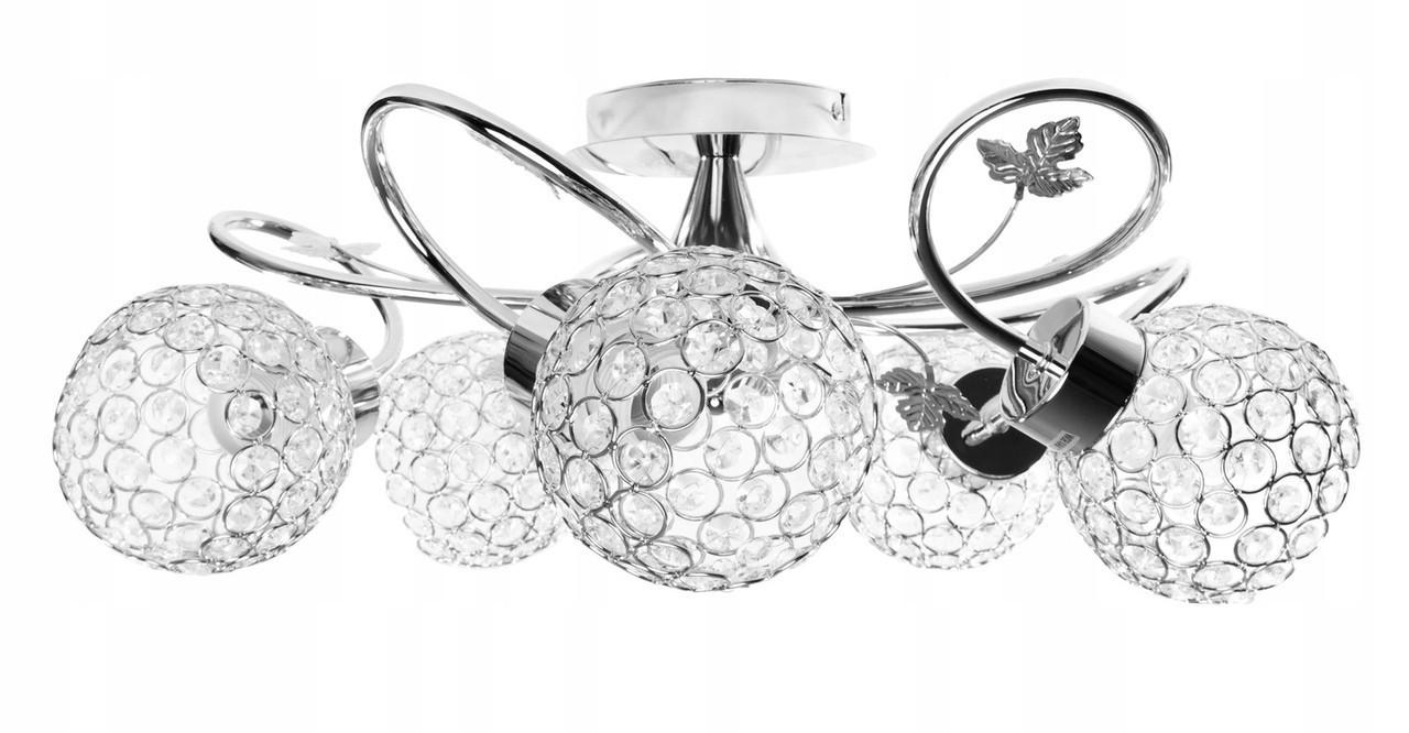 Лампа потолочная подвесная с хрустальными плафонами CHROM CHANDELIER