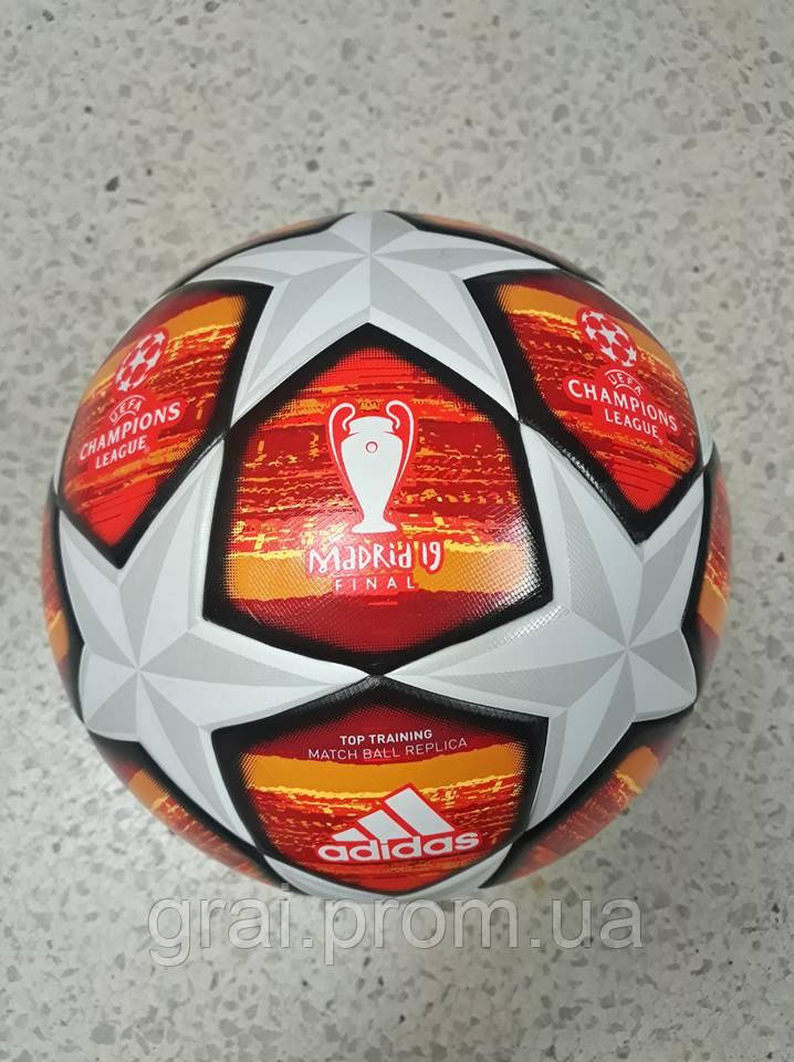 591c1f7615a68 Футбольный Мяч Adidas UCL Finale 19 Madrid Top Training White Red ...