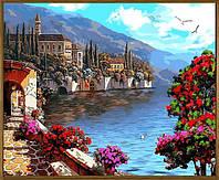 Картина по номерам Летний уголок (цветной холст в раме) (NB923R) 40 х 50 см DIY Babylon Premium