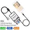DOXINGYE USB SD AUX Car MP3 peugeot 307 407 Citroen C4 C5 RD4 12PIN эмулятор для автомагнитолы