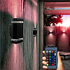 Наружная алюминиевая настенна светодиодная лампа LED RGB, 4шт , фото 4