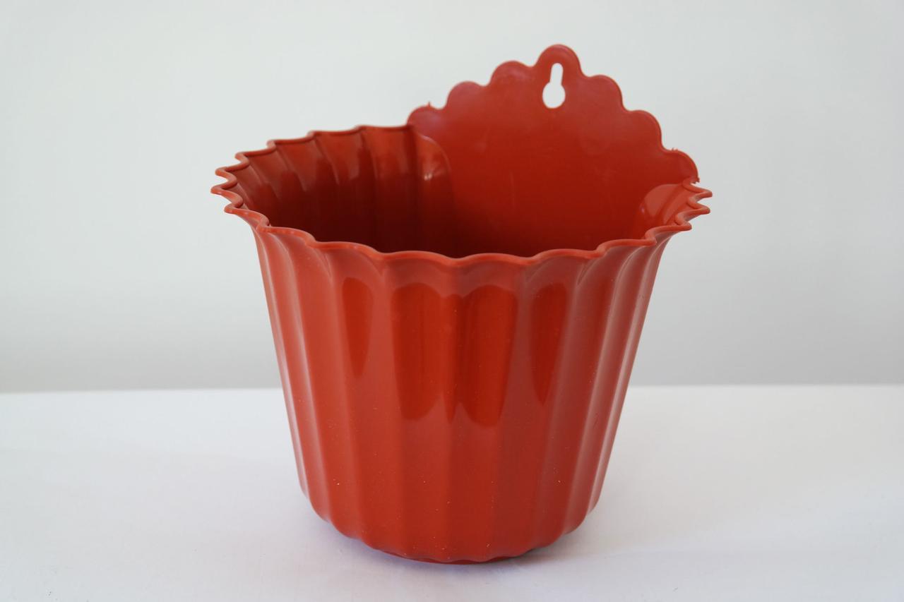 Цветочный горшок  Астра Настенная теракотового цвета Ø17 см