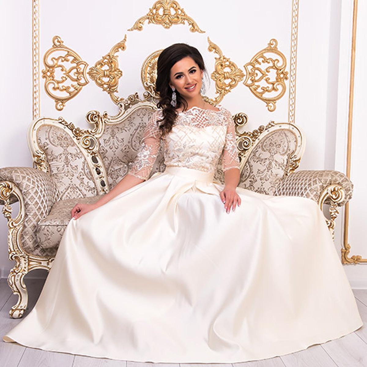 """Выпускное, вечернее, свадебное платье в пол со шлейфом """"Аркадия"""""""