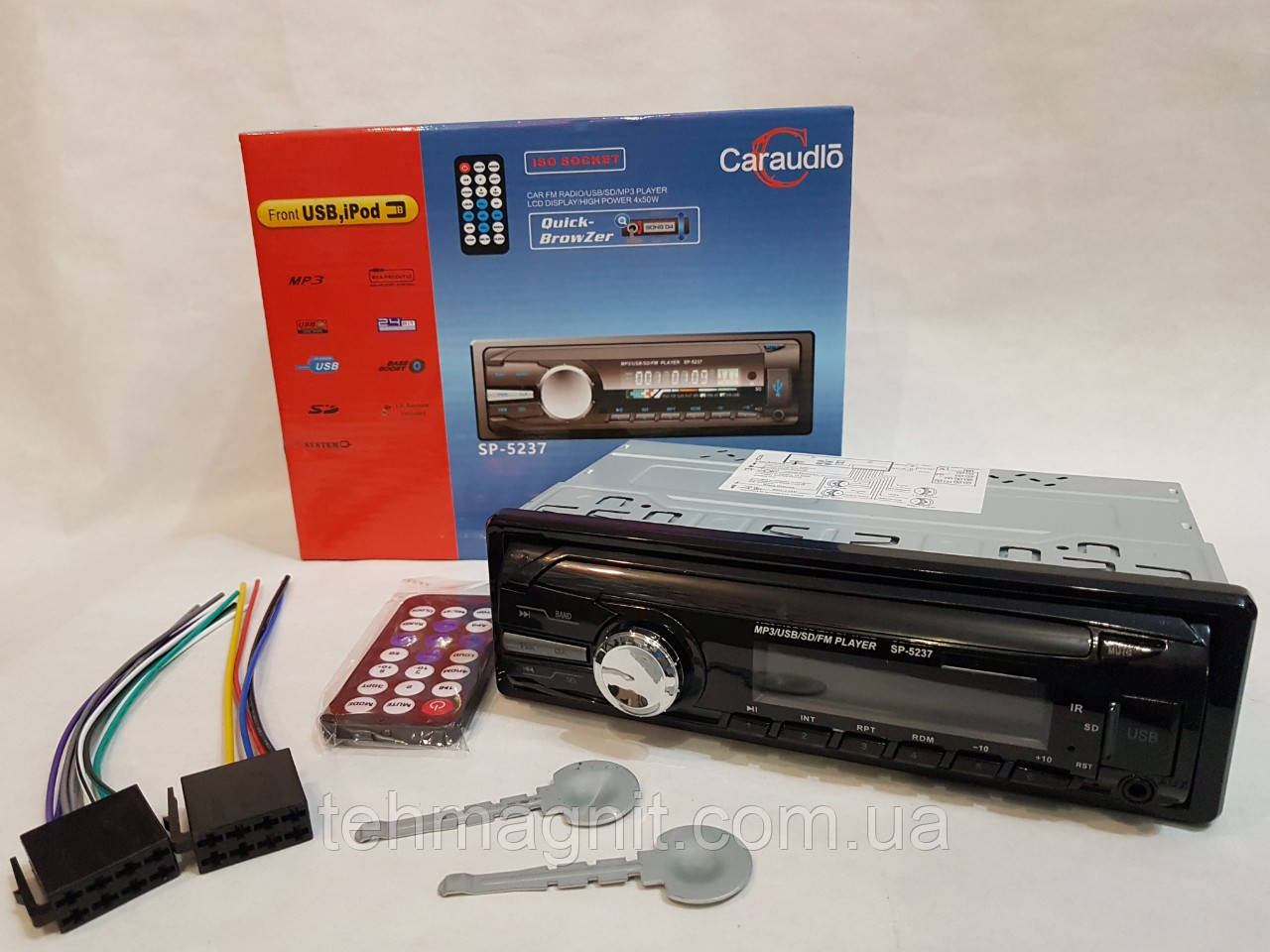 Автомагнитола SP-5237, MP3, FM, USB, Micro SD, AUX (аналог Pioneer)