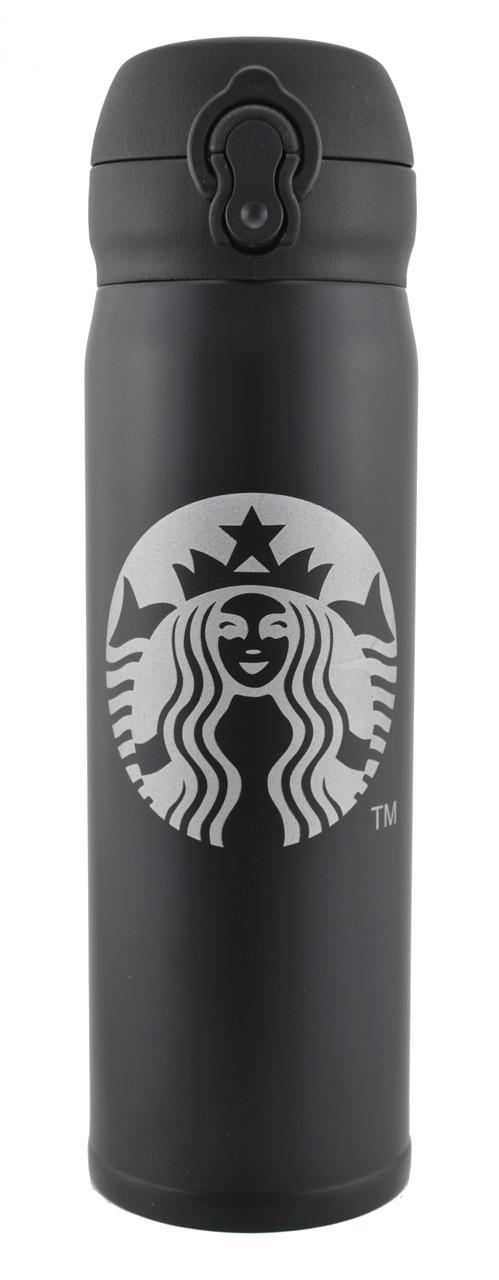 Термос Starbucks 400 мл Big Logo металлический Black