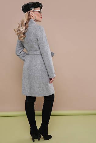 8c0a7229b33 Женское демисезонное шерстяное приталенное пальто классика до колен на  молнии без капюшона П-343 серое