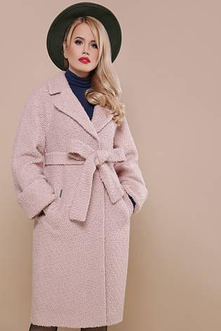 2f03480eecc Красивое женское демисезонное пальто букле прямое ниже колен без капюшона  П-303-100