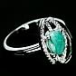 Изумруд, серебро 925, кольцо, 1453КЦИ, фото 2