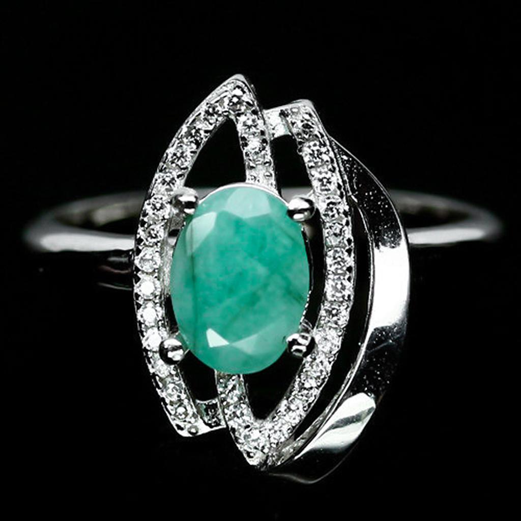 Изумруд, серебро 925, кольцо, 1453КЦИ
