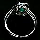 Изумруд, серебро 925, кольцо, 1453КЦИ, фото 3