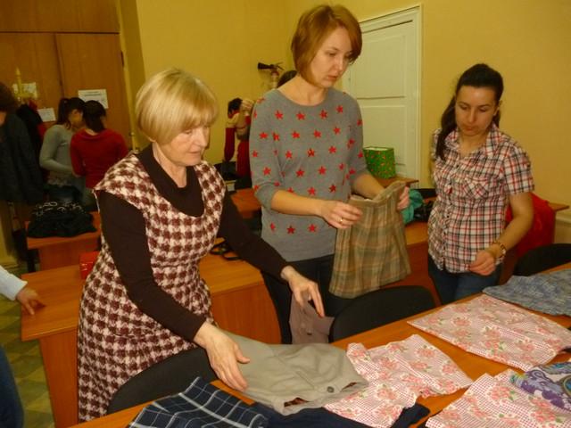 Зачет, еще зачет! Надежда Васильевна учит нас шить и кроить!