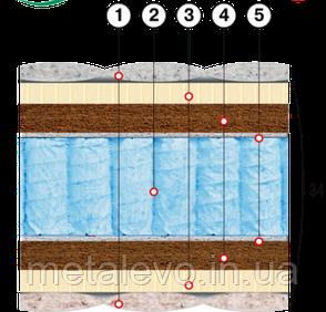 Ортопедический матрас с натуральным латексом и кокосовой койрой АТЛАНТ  ТМ ВЕЛАМ (Украина), 160х190, фото 2
